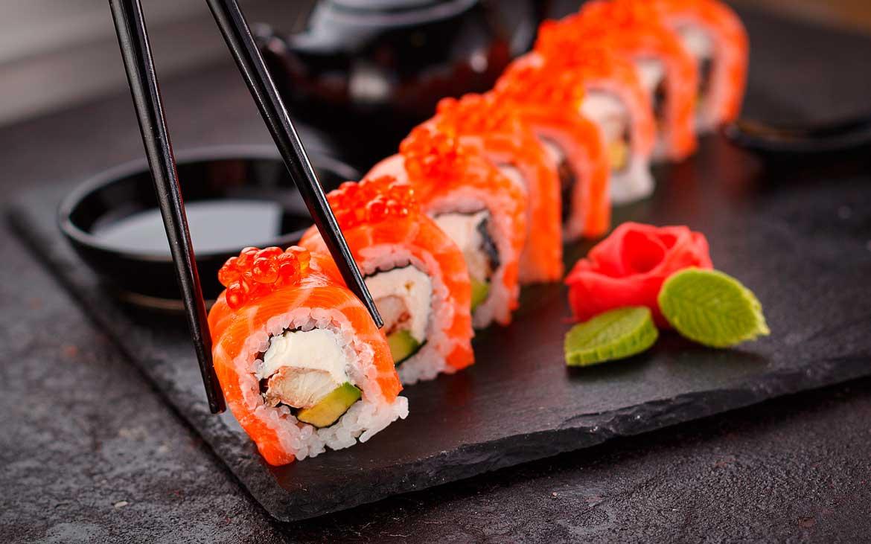 Sushi healthy japaneese gastronomy